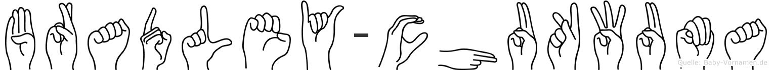 Bradley-Chukwuma im Fingeralphabet der Deutschen Gebärdensprache