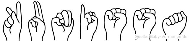 Kunissa in Fingersprache für Gehörlose