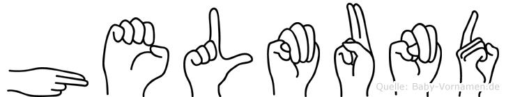 Helmund in Fingersprache für Gehörlose