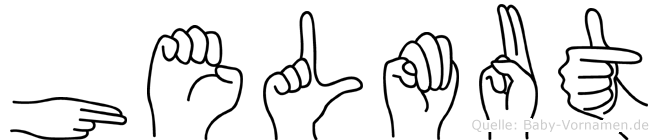 Helmut im Fingeralphabet der Deutschen Gebärdensprache