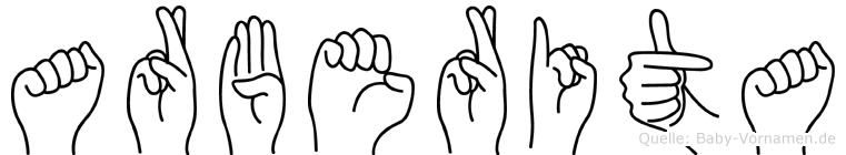 Arberita in Fingersprache für Gehörlose