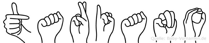 Tariano in Fingersprache für Gehörlose