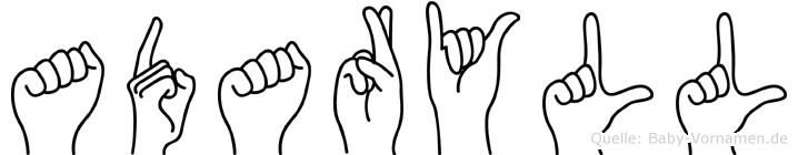 Adaryll in Fingersprache für Gehörlose