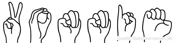 Vonnie in Fingersprache für Gehörlose