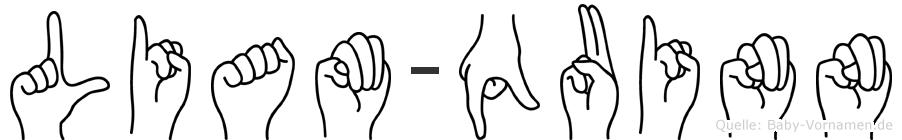 Liam-Quinn im Fingeralphabet der Deutschen Gebärdensprache