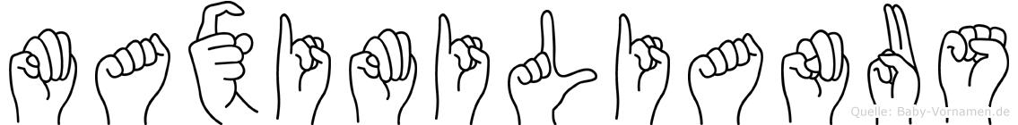Maximilianus in Fingersprache für Gehörlose