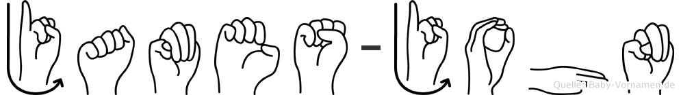 James-John im Fingeralphabet der Deutschen Gebärdensprache