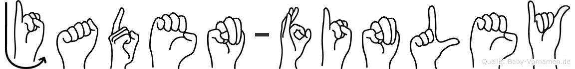 Jaden-Finley im Fingeralphabet der Deutschen Gebärdensprache