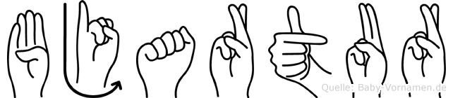 Bjartur in Fingersprache für Gehörlose