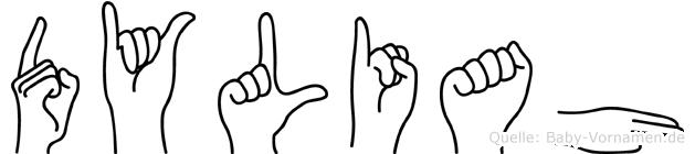 Dyliah in Fingersprache für Gehörlose