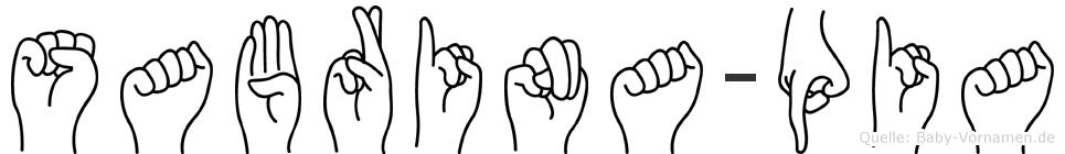 Sabrina-Pia im Fingeralphabet der Deutschen Gebärdensprache