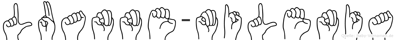 Luanne-Milenia im Fingeralphabet der Deutschen Gebärdensprache