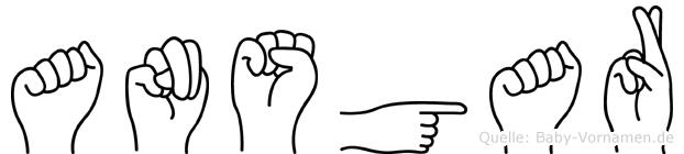 Ansgar im Fingeralphabet der Deutschen Gebärdensprache