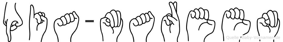 Pia-Mareen im Fingeralphabet der Deutschen Gebärdensprache