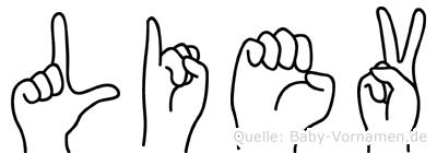 Liev in Fingersprache für Gehörlose