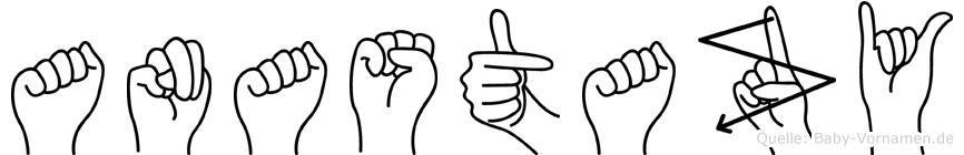 Anastazy in Fingersprache für Gehörlose