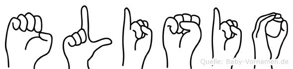Elisio im Fingeralphabet der Deutschen Gebärdensprache