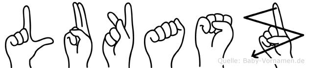 Lukasz in Fingersprache für Gehörlose