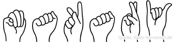 Makary in Fingersprache für Gehörlose