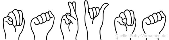 Maryna in Fingersprache für Gehörlose