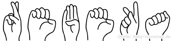 Rebeka im Fingeralphabet der Deutschen Gebärdensprache