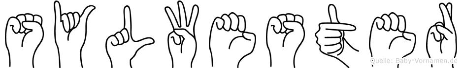 Sylwester in Fingersprache für Gehörlose