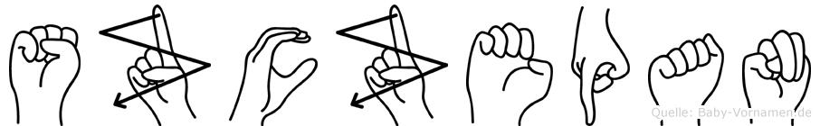 Szczepan in Fingersprache für Gehörlose