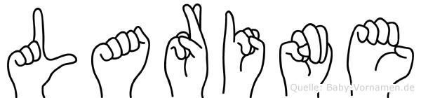 Larine im Fingeralphabet der Deutschen Gebärdensprache