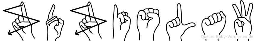 Zdzislaw im Fingeralphabet der Deutschen Gebärdensprache