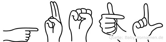 Gustl im Fingeralphabet der Deutschen Gebärdensprache