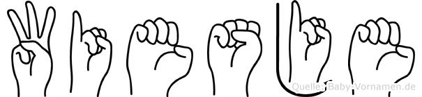 Wiesje im Fingeralphabet der Deutschen Gebärdensprache