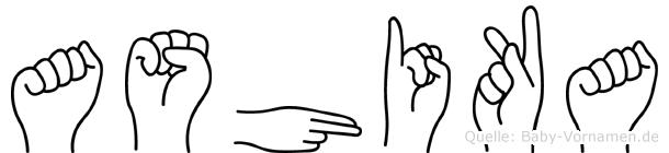 Ashika in Fingersprache für Gehörlose