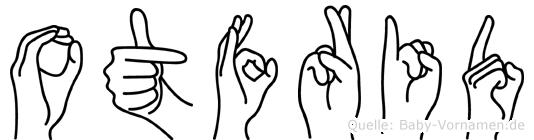 Otfrid im Fingeralphabet der Deutschen Gebärdensprache