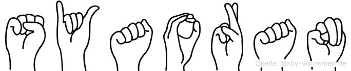 Syaoran im Fingeralphabet der Deutschen Gebärdensprache