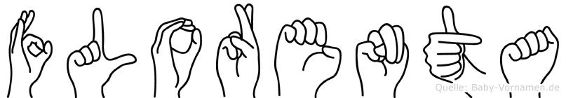 Florenta im Fingeralphabet der Deutschen Gebärdensprache