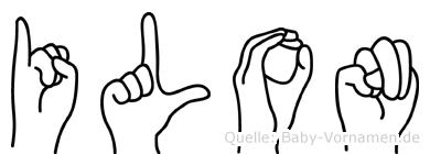 Ilon im Fingeralphabet der Deutschen Gebärdensprache
