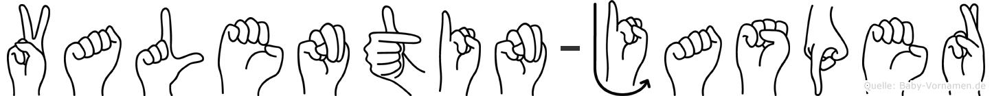 Valentin-Jasper im Fingeralphabet der Deutschen Gebärdensprache