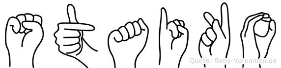 Staiko in Fingersprache für Gehörlose
