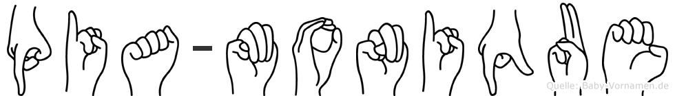 Pia-Monique im Fingeralphabet der Deutschen Gebärdensprache