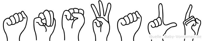 Answald in Fingersprache für Gehörlose