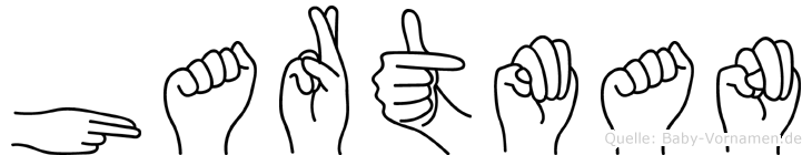Hartman in Fingersprache für Gehörlose
