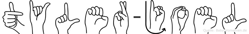 Tyler-Joel im Fingeralphabet der Deutschen Gebärdensprache