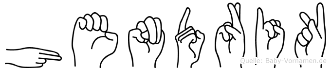 Hendrik in Fingersprache für Gehörlose