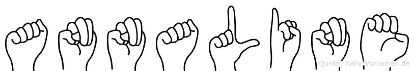 Annaline im Fingeralphabet der Deutschen Gebärdensprache