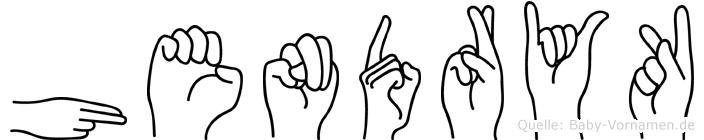 Hendryk im Fingeralphabet der Deutschen Gebärdensprache