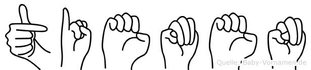 Tiemen im Fingeralphabet der Deutschen Gebärdensprache