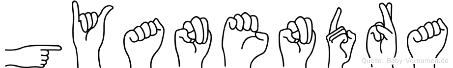 Gyanendra im Fingeralphabet der Deutschen Gebärdensprache