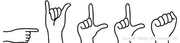 Gylla in Fingersprache für Gehörlose