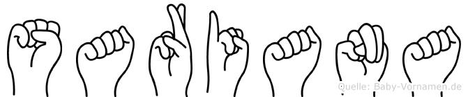 Sariana in Fingersprache für Gehörlose