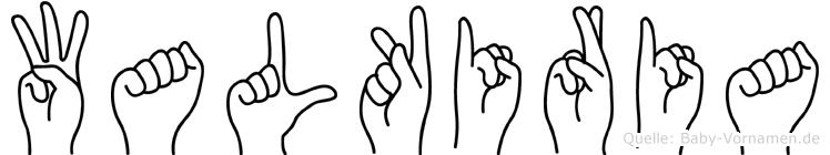Walkiria im Fingeralphabet der Deutschen Gebärdensprache